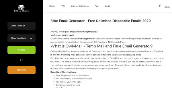Tạo email ảo bảo vệ hộp thư chính của bạn trước spam 1