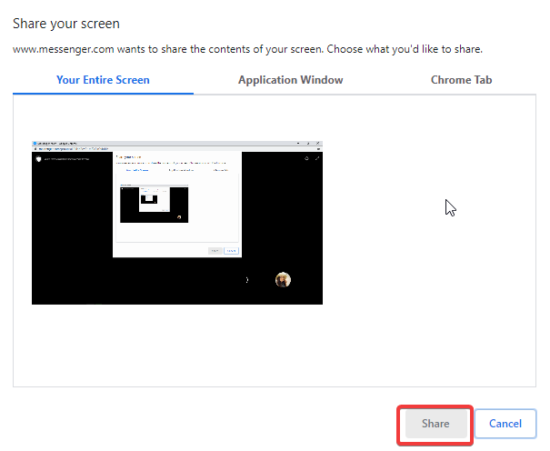 Cách chia sẻ màn hình trong Facebook Messenger Rooms 3