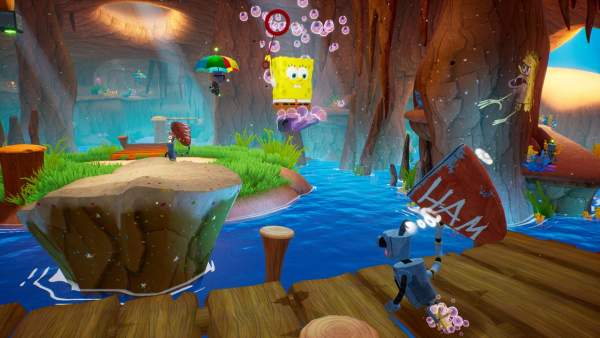 spongebob squarepants battle for bikini bottom rehydrated switch screenshot 3 600x338 - Đánh giá game SpongeBob SquarePants: Battle for Bikini Bottom – Rehydrated