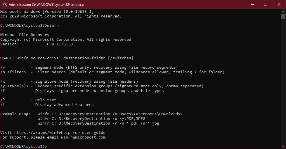 Cách sử dụng công cụ Windows File Recovery trên Windows 10 1