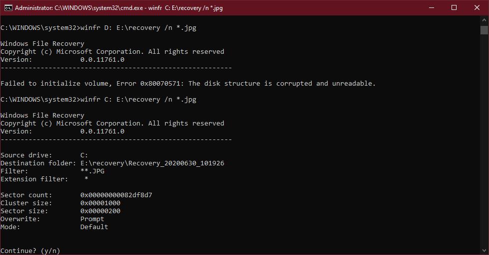Cách sử dụng công cụ Windows File Recovery trên Windows 10 2