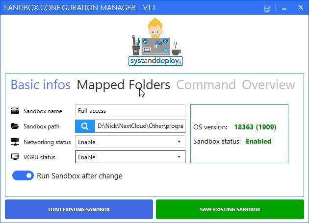 windows sandbox configuration manager 2 - Cách cấu hình Windows Sandbox dễ dàng