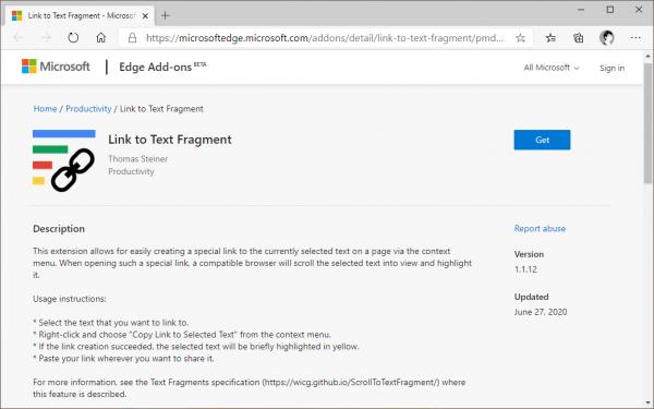 Sử dụng tính năng Scroll to Text Fragment trên Microsoft Edge mà chẳng cần extension của Google 1