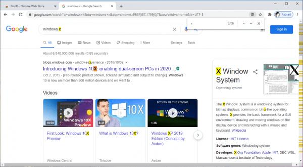 Tìm kiếm từ, thay thế từ trên trang web trong Chrome 1