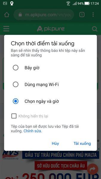 Cách lên lịch tải xuống trên Android bằng... Google Chrome 4