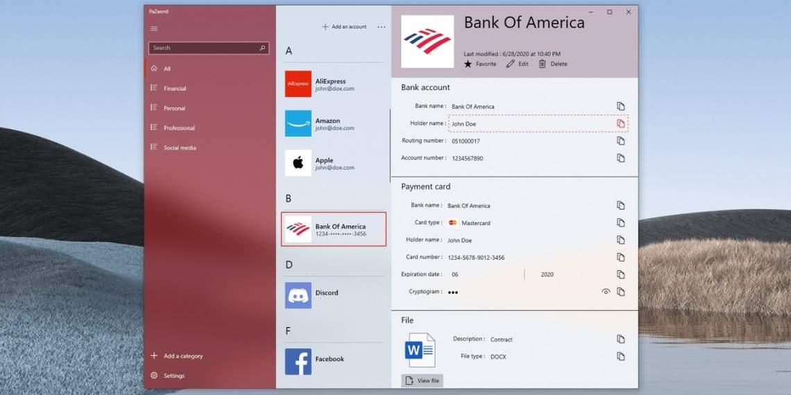 Ứng dụng UWP tuyệt vời để lưu giữ tài khoản web trên Windows 10