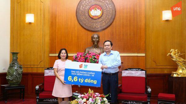 ZaloPay trao tặng hơn 8,2 tỷ đồng ủng hộ MTTQ Việt Nam phòng chống dịch bệnh Covid-19 1