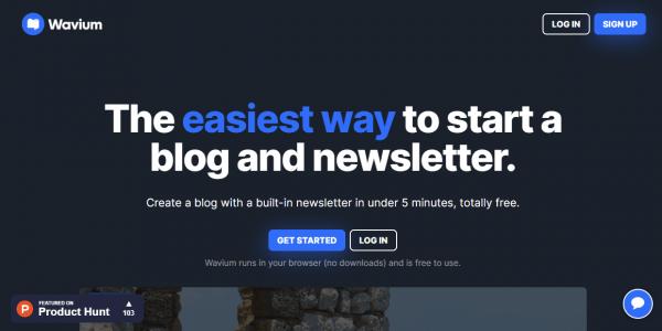 Viết và tạo nhiều trang blog với Wavium 1
