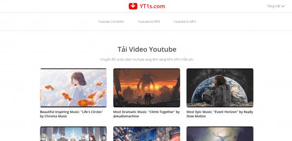YT1s: Lấy link tải, chuyển đổi video YouTube chỉ 1 giây 3