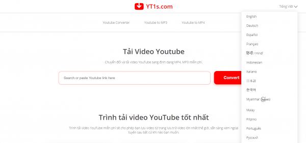 YT1s: Lấy link tải, chuyển đổi video YouTube chỉ 1 giây 2