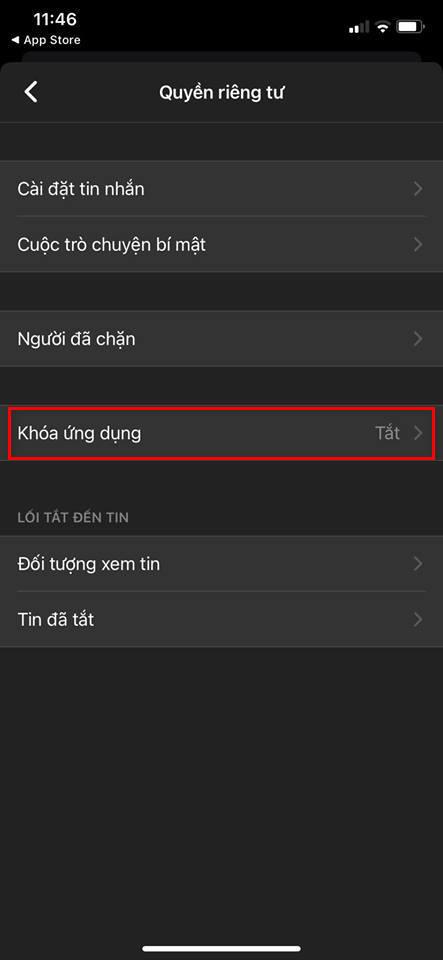Cách khoá ứng dụng Facebook Messenger bằng mật khẩu 1