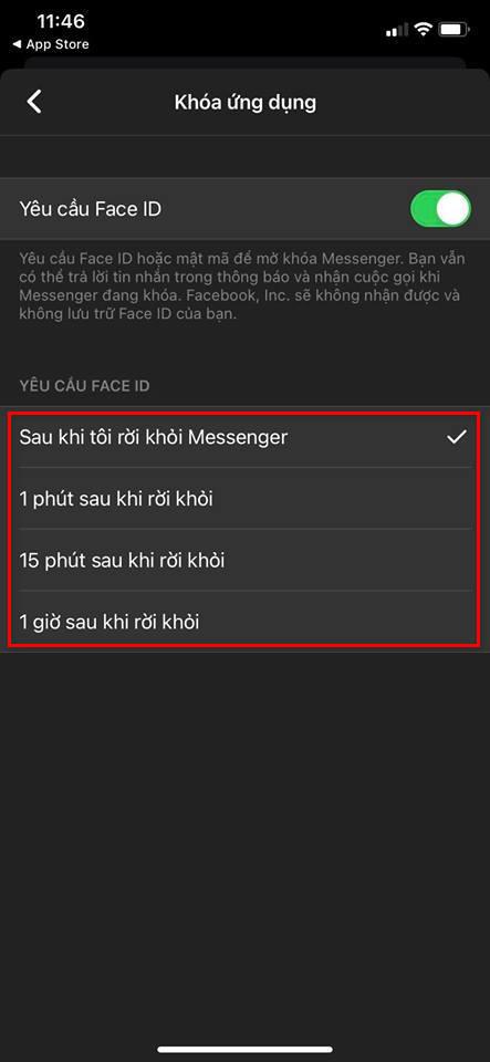 Cách khoá ứng dụng Facebook Messenger bằng mật khẩu 3