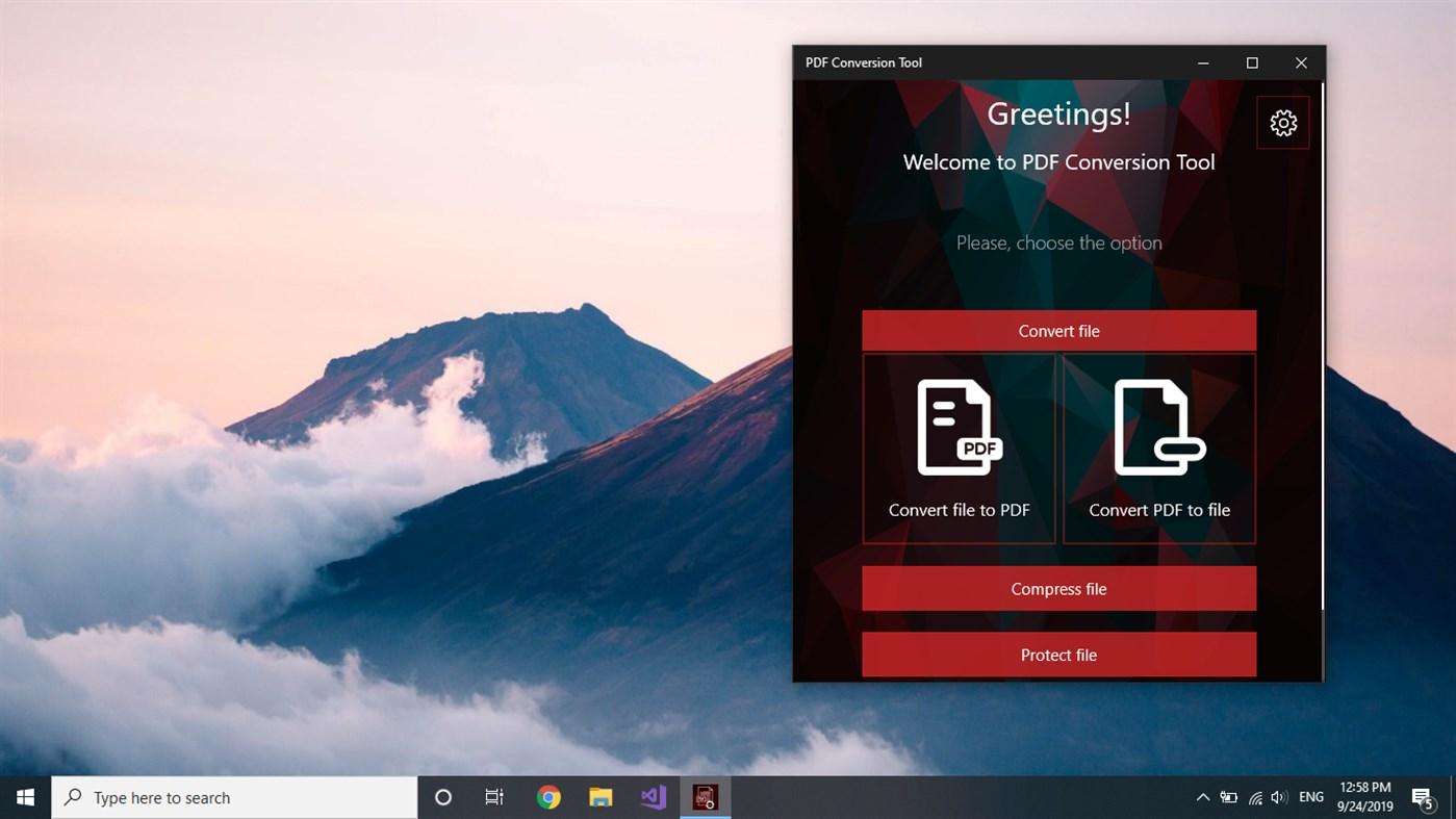 Đang miễn phí ứng dụng PDF Conversion Tool dành cho Windows 10