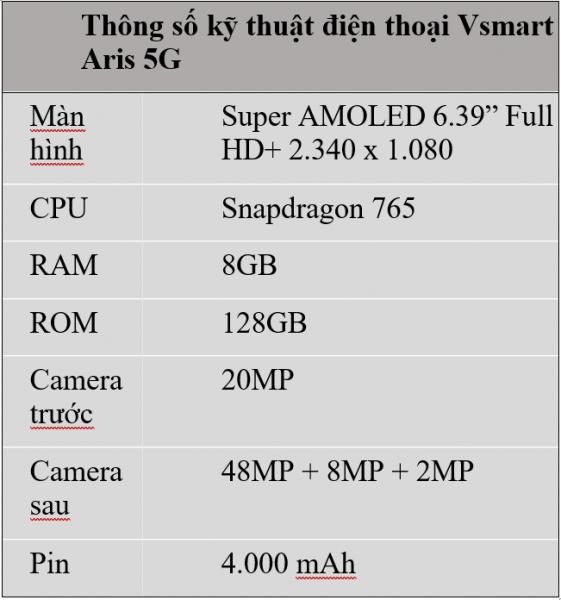 VinSmart phát triển thành công điện thoại Vsmart Aris 5G 3