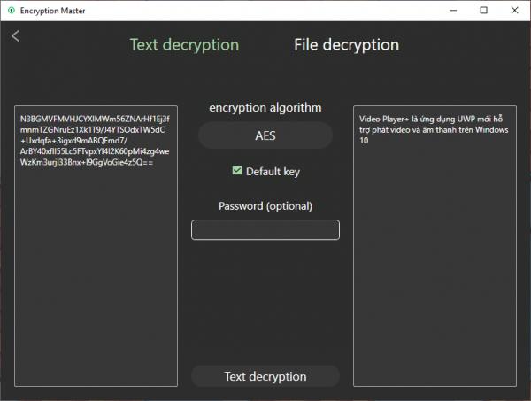 Encryption Master: Mã hóa văn bản, tập tin an toàn với nhiều thuật toán cao cấp 4