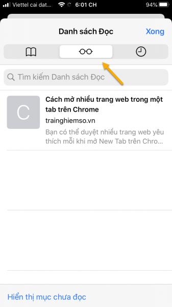 Cách lưu trang web để đọc offline trong Safari trên iPhone 6