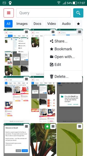 Recall: Tìm hình ảnh, nhạc, video,... bằng nội dung bên trong 2
