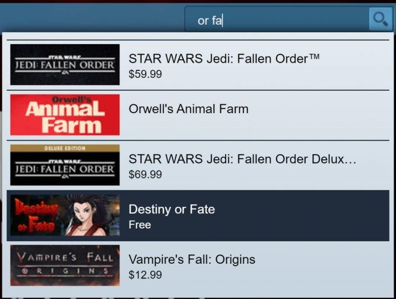 Đang miễn phí game Destiny or Fate