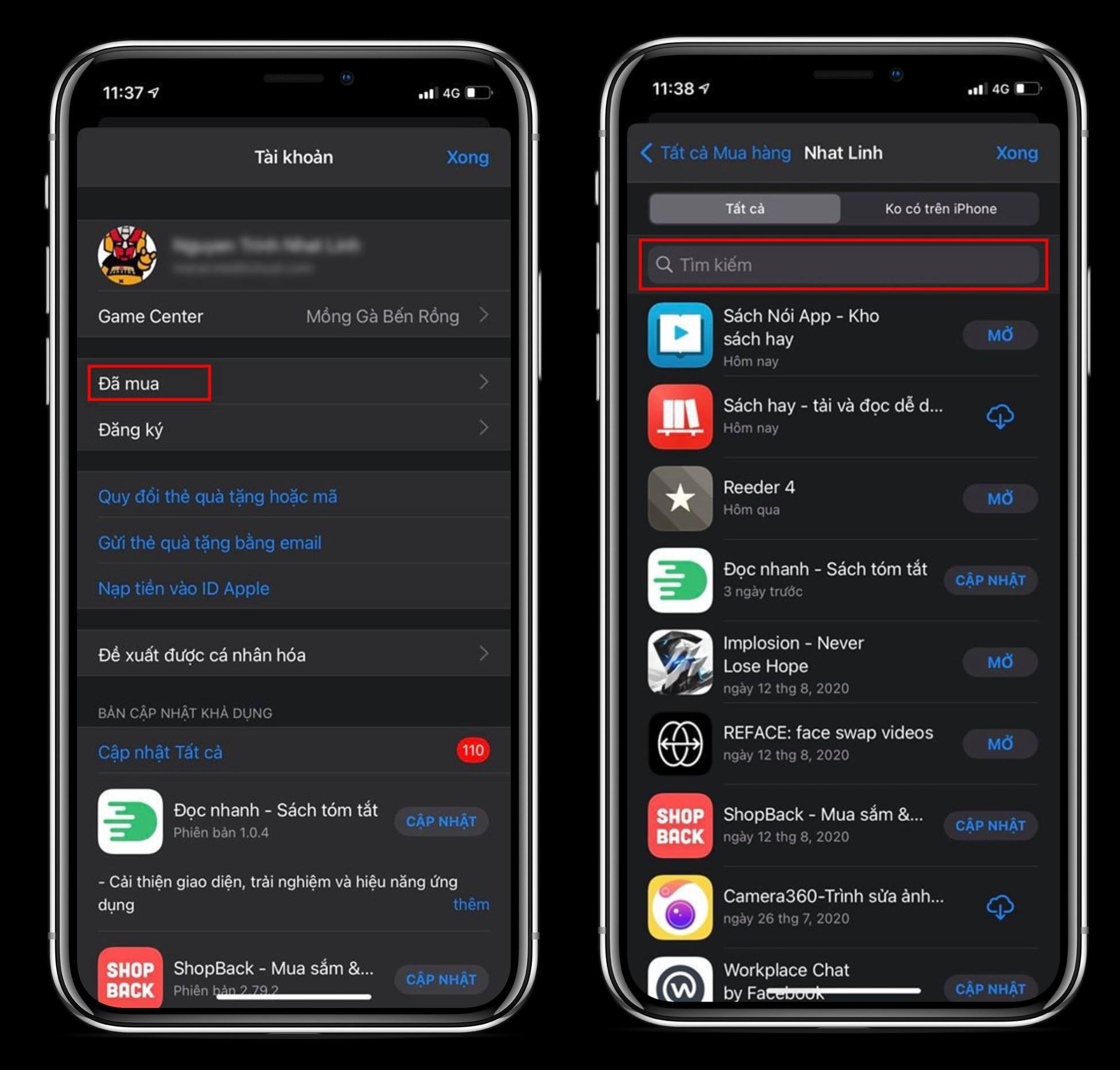 Tải lại ứng dụng hay game đã bị xóa khỏi App Store 1