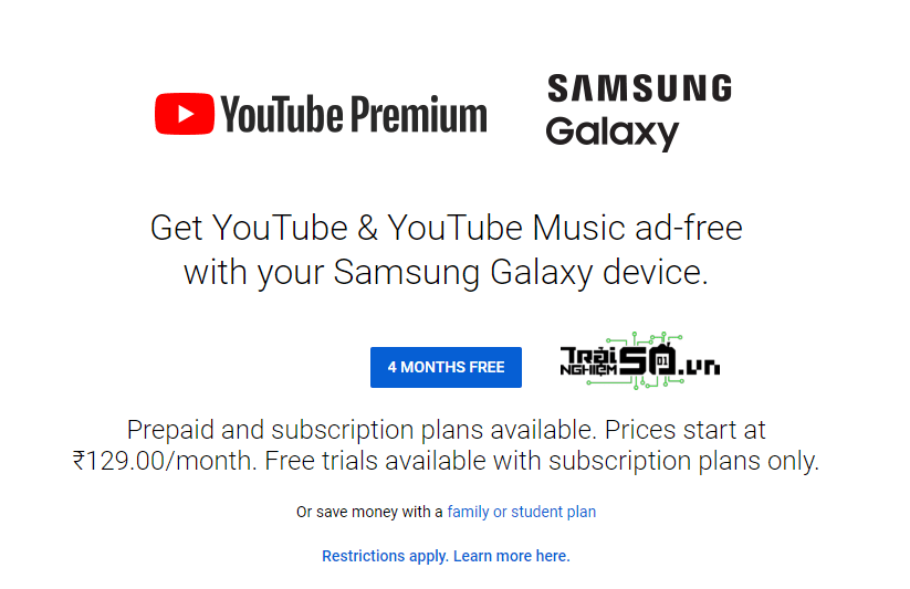 Cách nhận 4 tháng miễn phí YouTube Premium 2