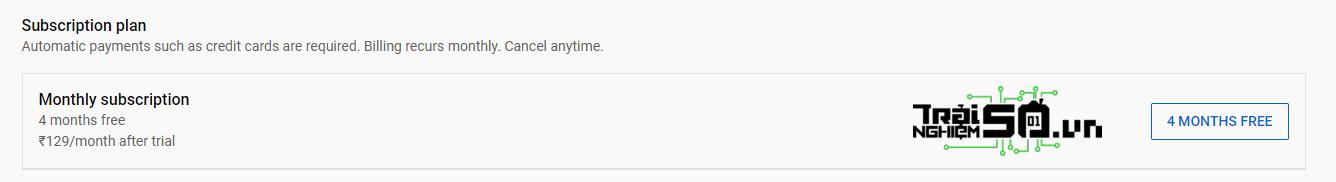 Cách nhận 4 tháng miễn phí YouTube Premium 3