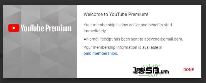 Cách nhận 4 tháng miễn phí YouTube Premium 5