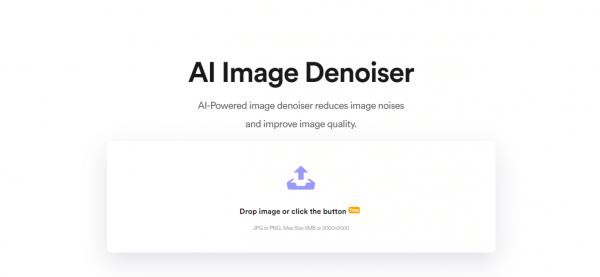 Phóng to ảnh không bị vỡ hạt online bằng AI với AI Image Denoiser 1