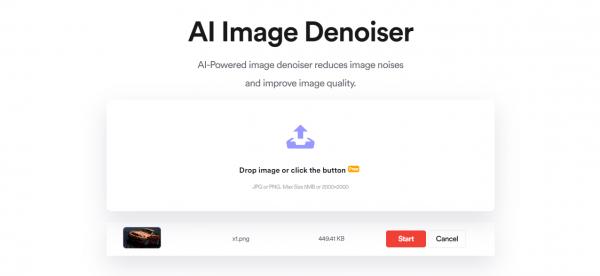 Phóng to ảnh không bị vỡ hạt online bằng AI với AI Image Denoiser 2