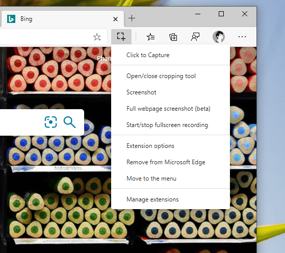 Cách dùng Click to Capture chụp ảnh, quay video màn hình trang web trên Microsoft Edge 3