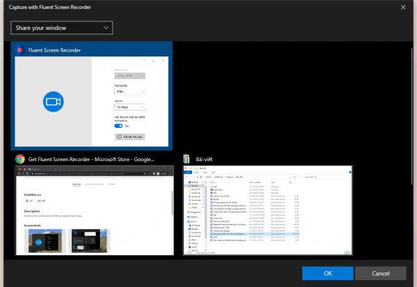 Fluent Screen Recorder: Ứng dụng quay video màn hình Windows 10 2
