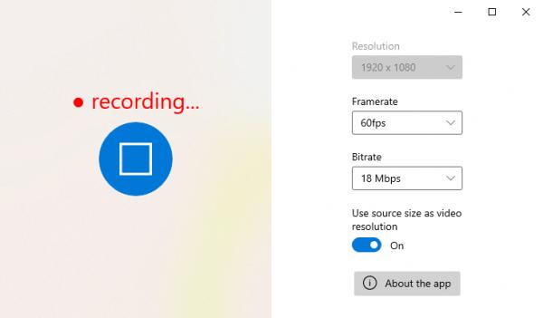 Fluent Screen Recorder: Ứng dụng quay video màn hình Windows 10 3