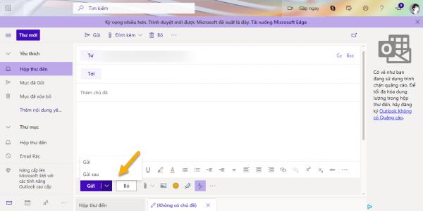 Cách lên lịch gửi email trong tương lai với Outlook.com 1