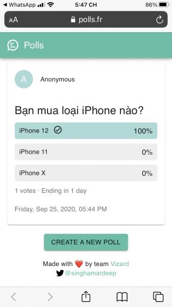 Tạo, chia sẻ cuộc thăm dò tự hủy trong WhatsApp 4