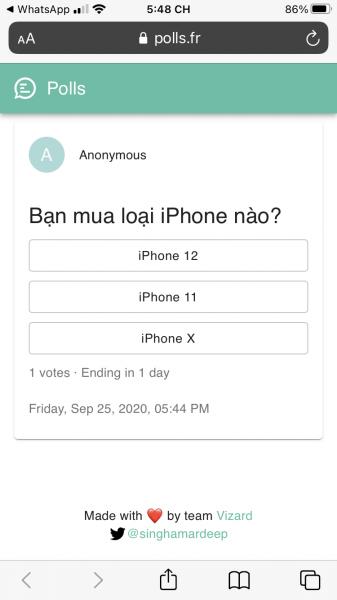 Tạo, chia sẻ cuộc thăm dò tự hủy trong WhatsApp 5