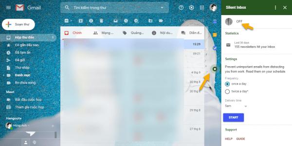 Cách tự động tạm hoãn email không quan trọng được gửi tới Gmail 2