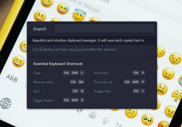 Snatch: Quản lý nội dung clipboard trên Windows 10 2