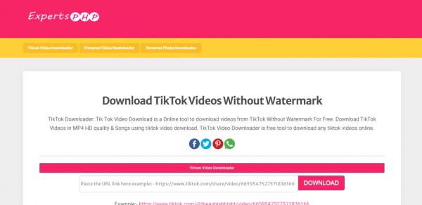 8 trang giúp download video TikTok không có watermark