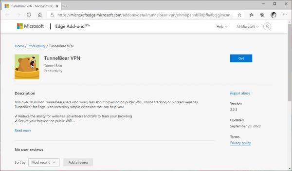 TunnelBear VPN đã có phiên bản cho Microsoft Edge Chromium 1