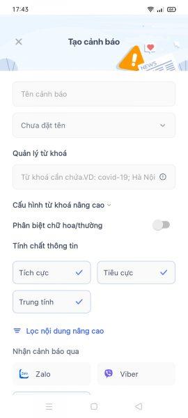 VnAlert: Công cụ theo dõi và thông báo thông tin tức thời 2
