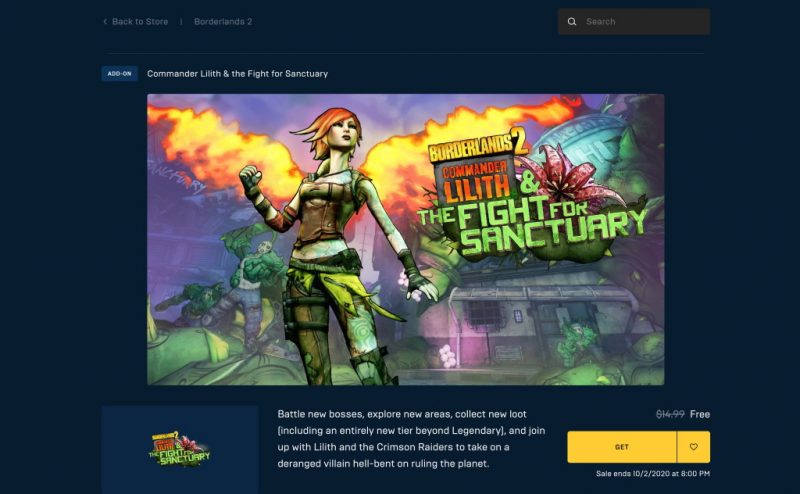Tải DLC game Borderlands 2: Commander Lilith & the Fight for Sanctuary miễn phí