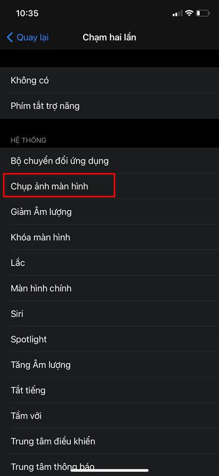 chụp màn hình iphone trên iOS 14
