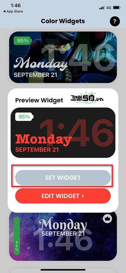 Cách thêm thanh pin và lịch xịn vào widget iOS 14 2