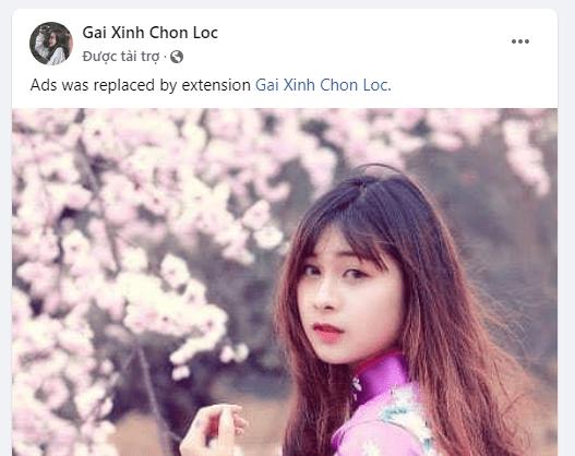 Cách thay quảng cáo Facebook bằng ảnh gái xinh 4