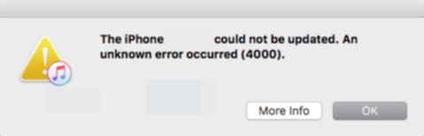 Cách sửa lỗi iTunes Error 4000 1