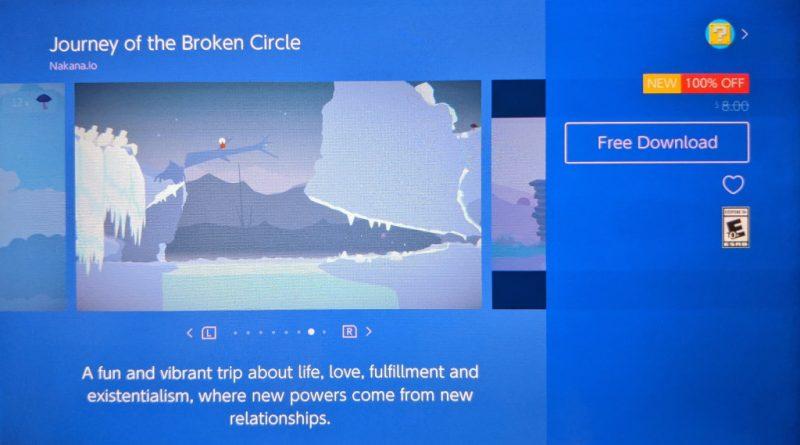 Đang miễn phí game Journey of the Broken Circle cho Nintendo Switch nếu...