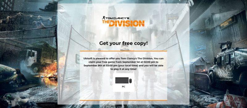 Đang miễn phí game Tom Clancy's The Division