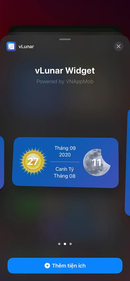 How to add lunar calendar to widgets of iOS 14 3