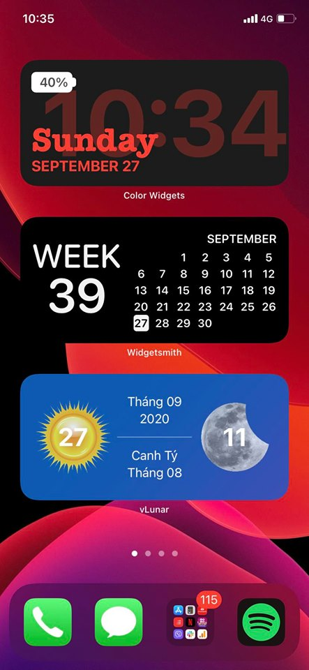 How to add lunar calendar to widgets of iOS 14 4