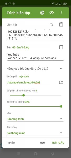 Advanced Download Manager: Tải tập tin, torrent trên Android