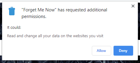 Forget Me Now: xóa dữ liệu web tự động khi đóng tab trên Chrome 4